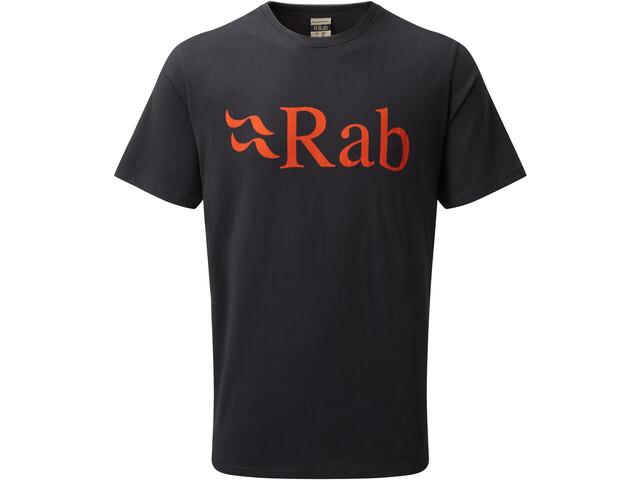 Rab Stance Logo Lyhythihainen T-paita Miehet, beluga